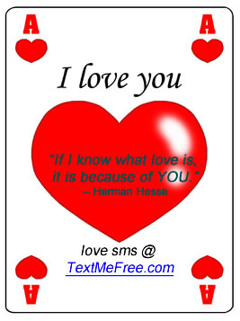 Love sms - romantic sms - love quotes and text messages